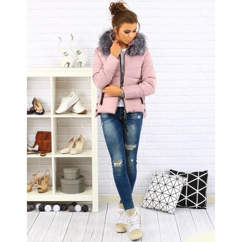 Zateplené dámske zimné bundy ružovej farby - fashionday.eu 292eba4e1d4