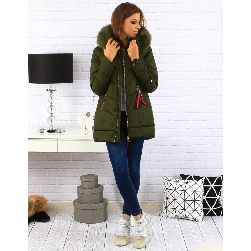 Zelená zateplená dámska zimná bunda - fashionday.eu 1c7e49b8bf2