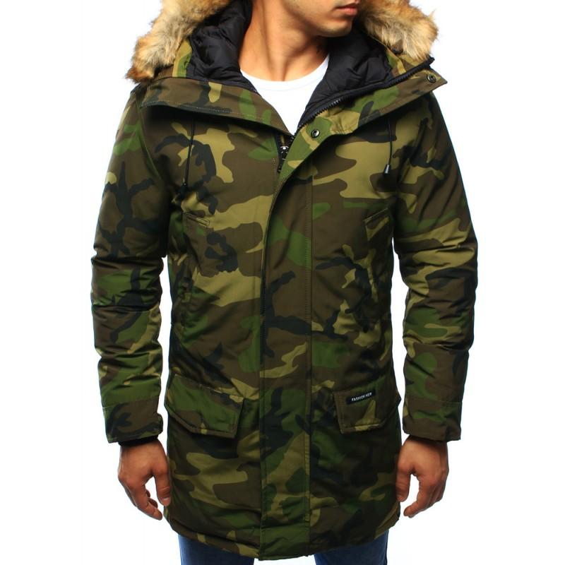 Pánska maskáčová zimná bunda s kapucňou - fashionday.eu ee7cef9a912