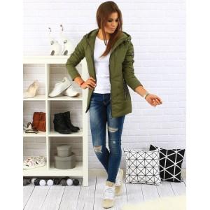 Zelená dámska bunda na zimu