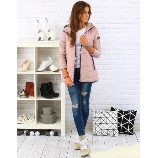 Dámska ružová bunda na zimu