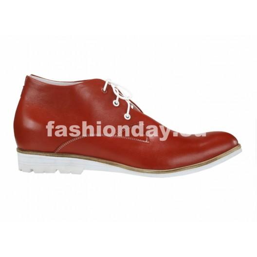 Pánske kožené topánky červené PT118