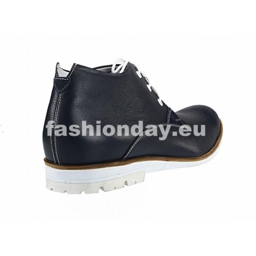 Pánske kožené topánky modré PT119
