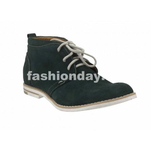 Pánske kožené topánky zelené PT120