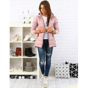 Ružová dámska jesenná bunda na zips