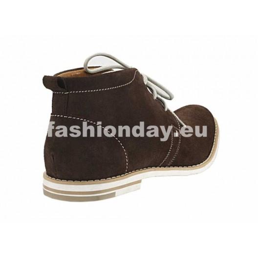 Pánske kožené topánky hnedé PT121