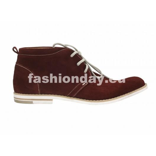 Pánske kožené topánky bordové PT122