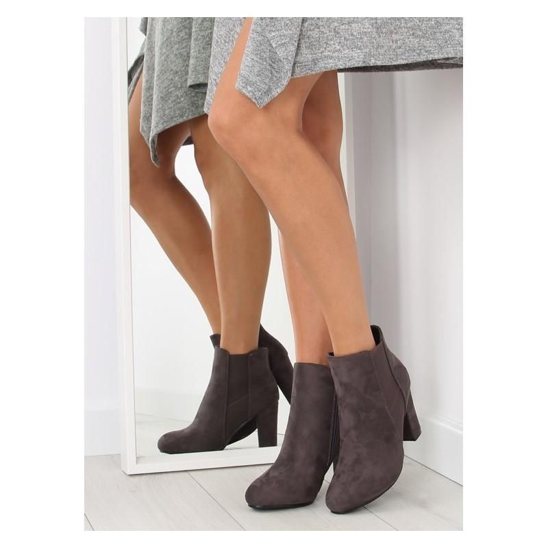 Teplá dámska členková obuv sivej farby - fashionday.eu 6dc334d8100