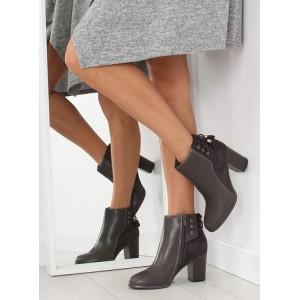 Sivé dámske členkové topánky so šnúrkami