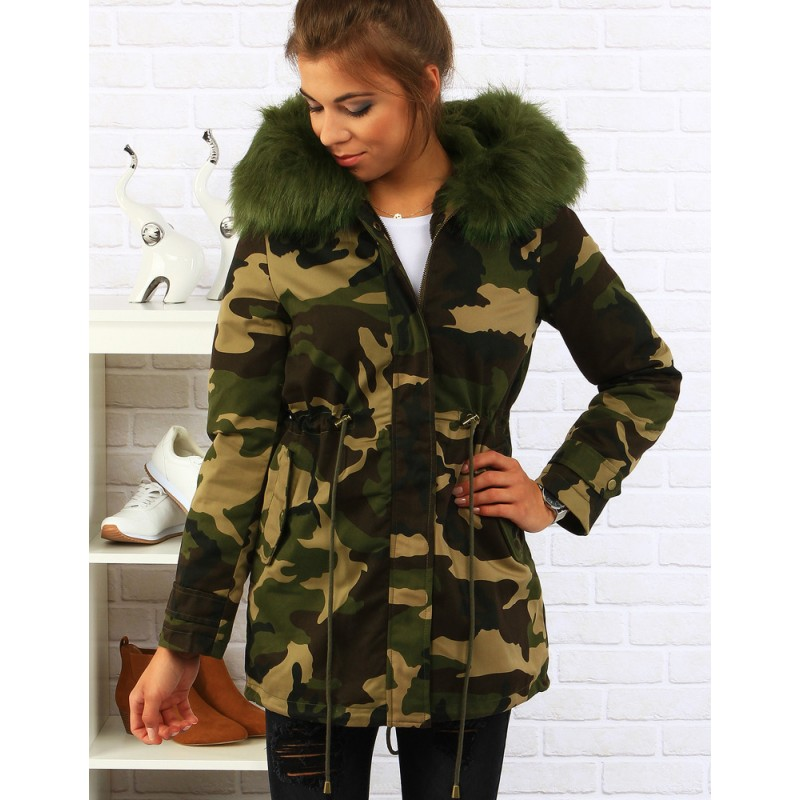 Dámske zimné bundy zelenej farby - fashionday.eu a613827d48f