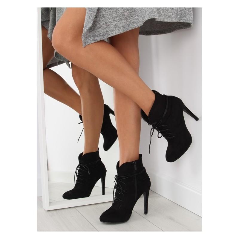 226ca1ae5ed9 Elegantné dámske členkové topánky čiernej farby - fashionday.eu