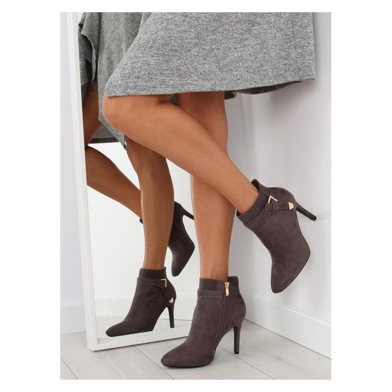 d40fc1bfab Členkové dámske prechodné topánky v sivej farbe - fashionday.eu