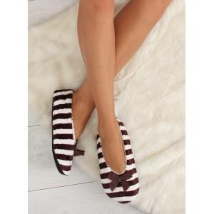 Teplé dámske papuče hnedej farby