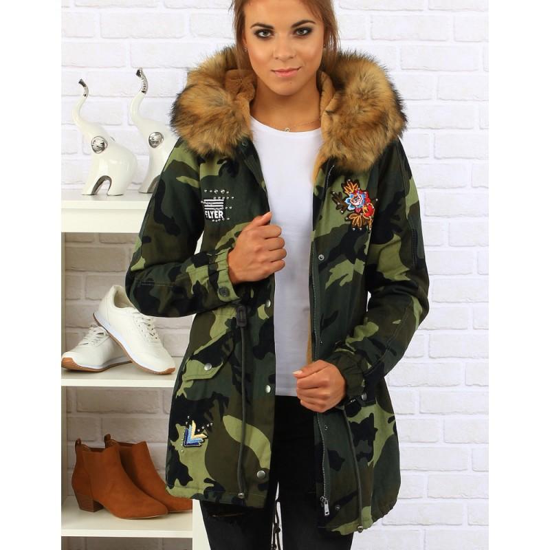 93dacd440819c ARMY dámske jesenné bundy s nášivkami - fashionday.eu