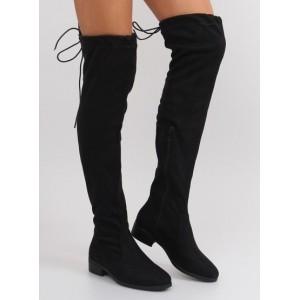 Čierne zateplené dámske čižmy