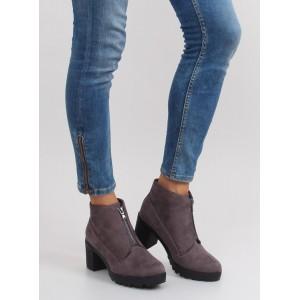 Štýlová zimná kotníková obuv sivej farby