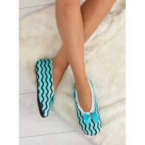 Moderné dámske papuče modrej farby