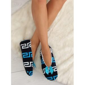 Modré dámske papuče z kvalitných materiálov