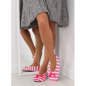 Dámske papuče v ružovej farbe