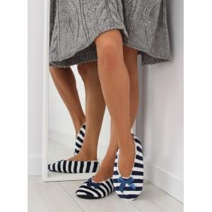 Tmavo modré dámske papuče