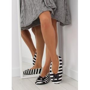 Čierne dámske papuče s mašličkou