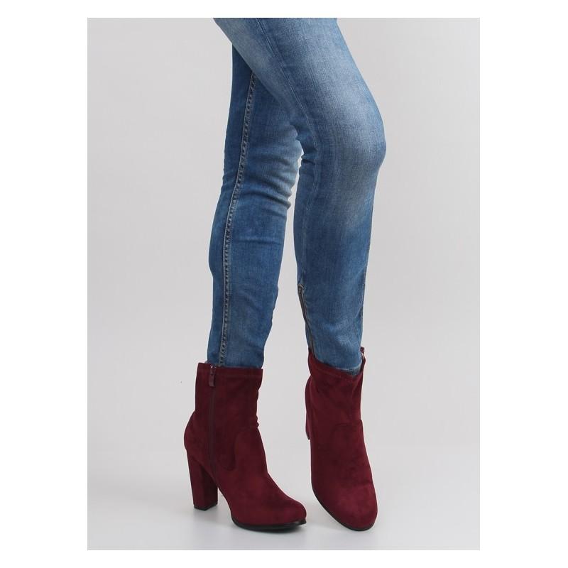 1d70b871f9 Predchádzajúci. Bordová dámska obuv na vysokom podpätku ...