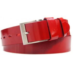 Elegantný pánsky opasok v červenej farbe