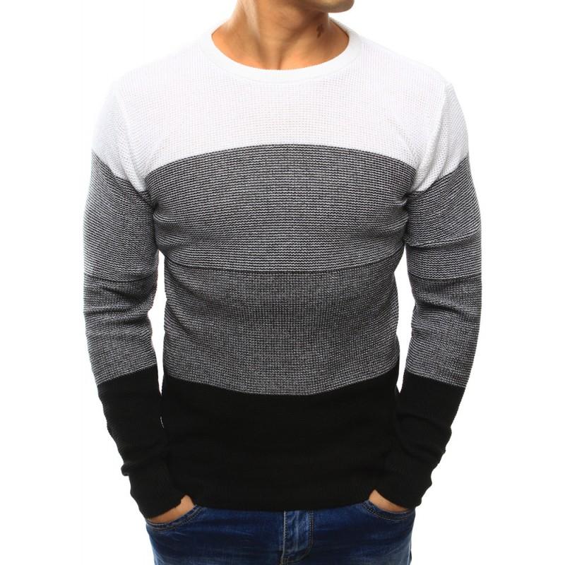 9813e1fa9efa Biely pletený pánsky sveter - fashionday.eu