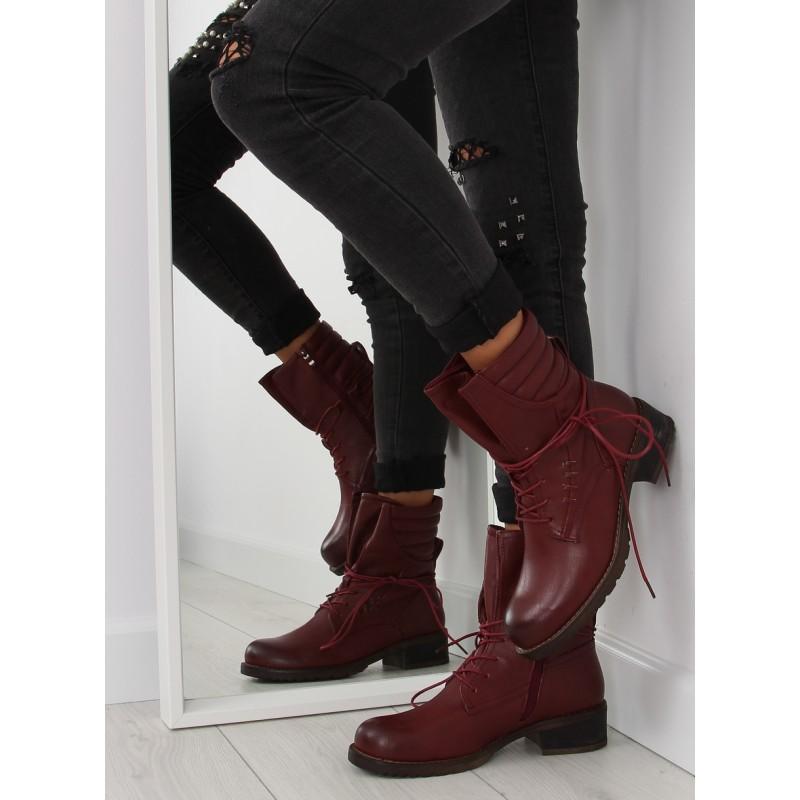 59e8099f7f Predchádzajúci. Bordové dámske topánky na zimu ...