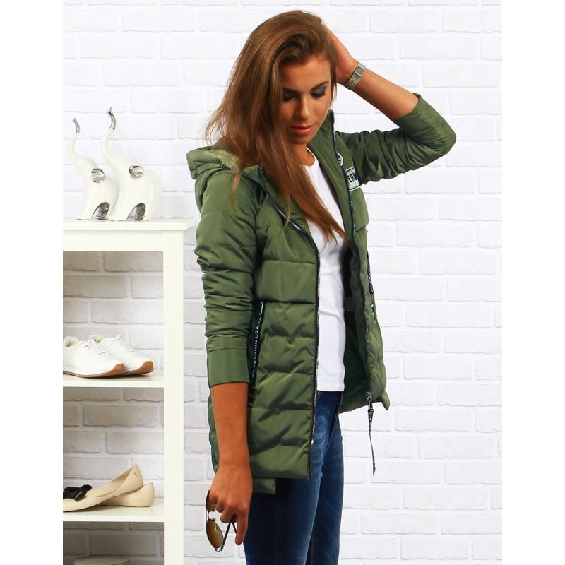 Predchádzajúci. Zelená dámska jesenná bunda na zips ... cad210dc6ef