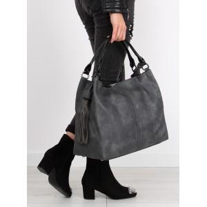 Moderné dámske kabelky sivej farby