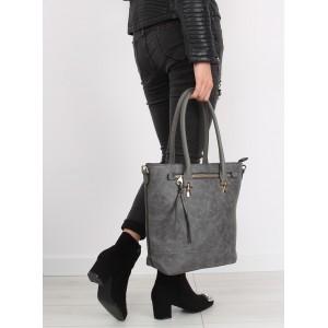 Sivé dámske kabelky s vnútorným vreckom