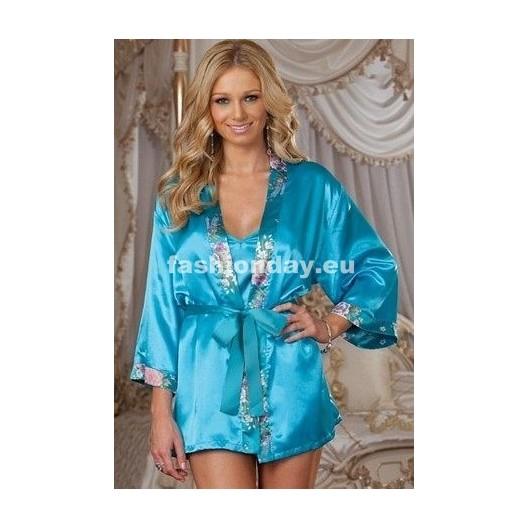 Dámske sexi pyžamo modrý mesiac