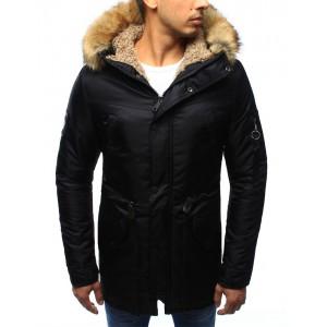 Pánska zimná bunda čiernej farby