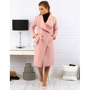 Pohodlné dámske kabáty v ružovej farbe