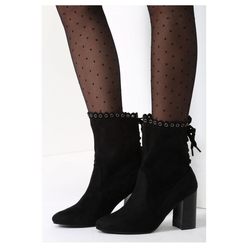 e3289bc339940 Teplé dámske členkové čižmy čiernej farby - fashionday.eu