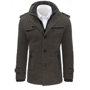 Sivý pánsky kabát na zimu
