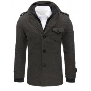 Pánsky zimný kabát v sivej farbe