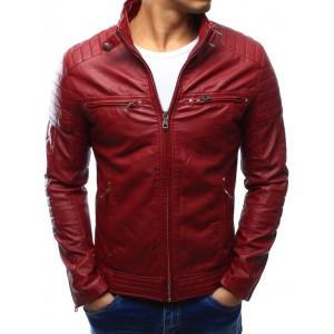 Červená pánska kožená bunda
