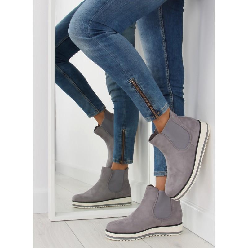 Moderné dámské topánky na zimu sivej farby - fashionday.eu 29d2ff1244f