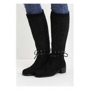 Dámske zimné čižmy v čiernej farbe