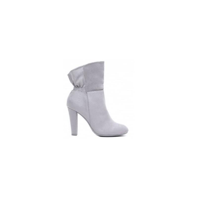 6df0f14c47 Kotníkové čižmy na zimu sivej farby - fashionday.eu