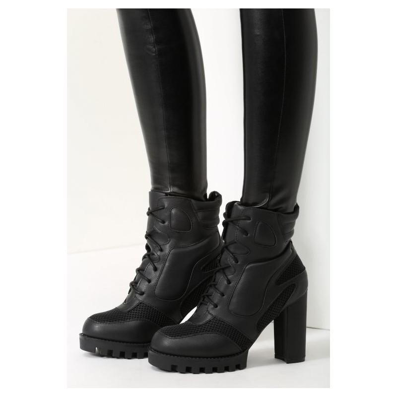 b08fc28883 Predchádzajúci. Čierne dámske zimné členkové topánky na šnúrovanie ...