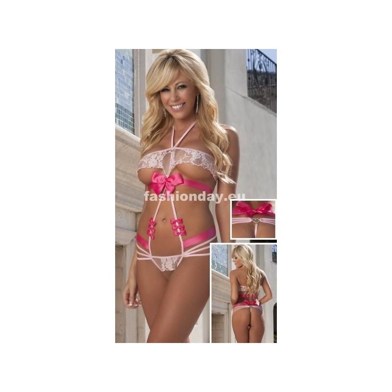 c0c9489f5 Dámske erotické prádlo Body ružové F1 - fashionday.eu
