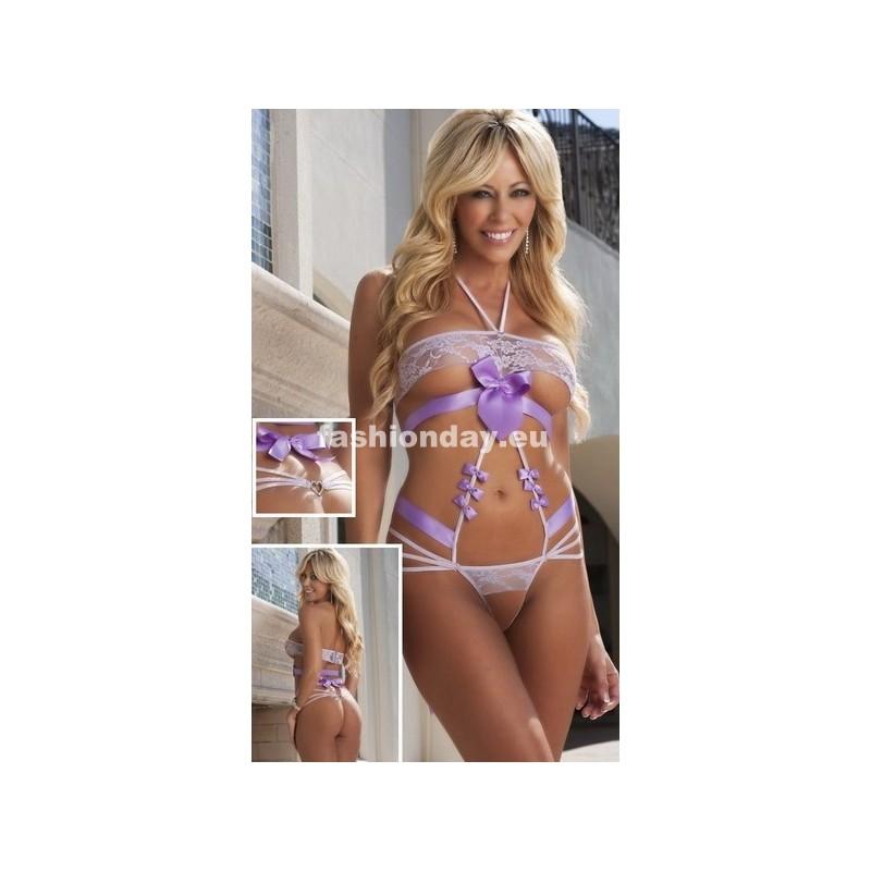 fb6dbfac5d74 Dámske erotické prádlo Body fialové F1 - fashionday.eu