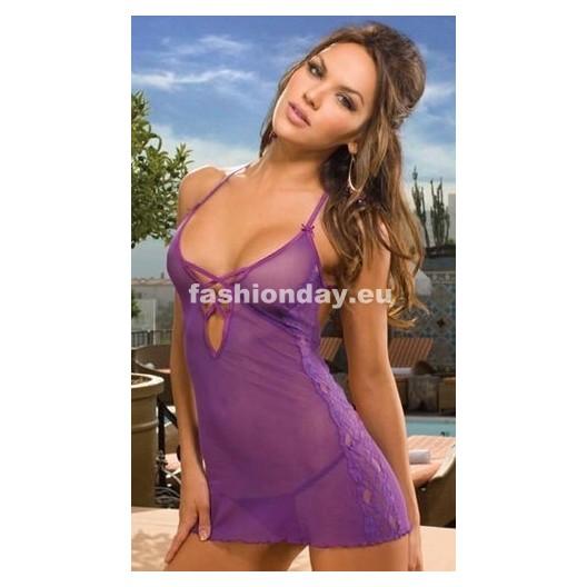 Dámska erotická košieľka 6044 fialová