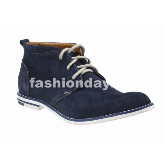 Pánske kožené topánky modré PT123