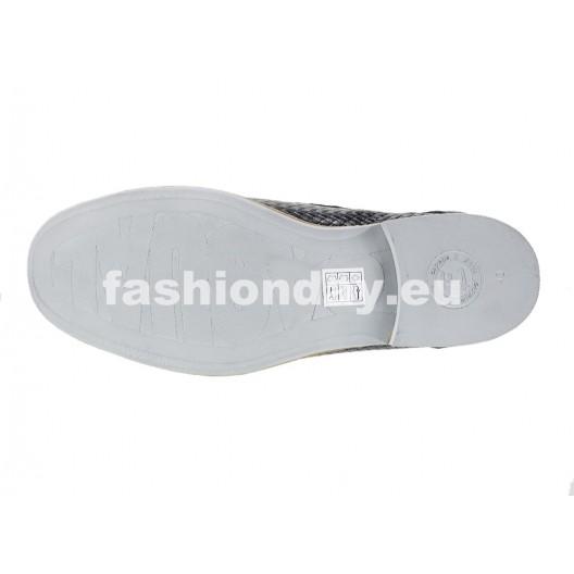 Pánske kožené topánky čierne PT124