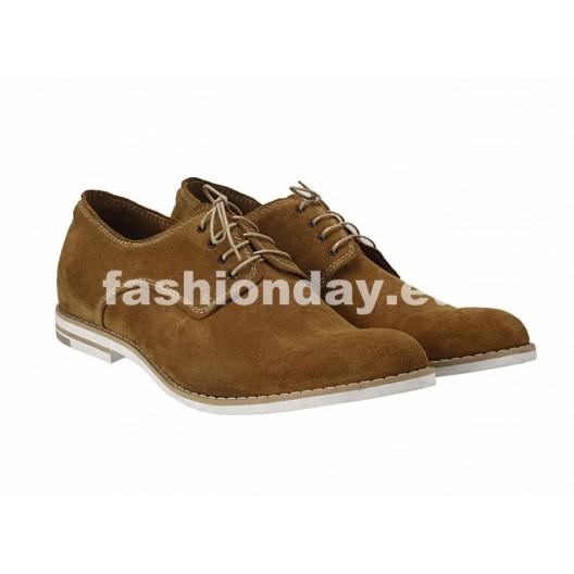 Pánske kožené topánky hnedé PT126