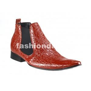 Pánske členkové topánky červené